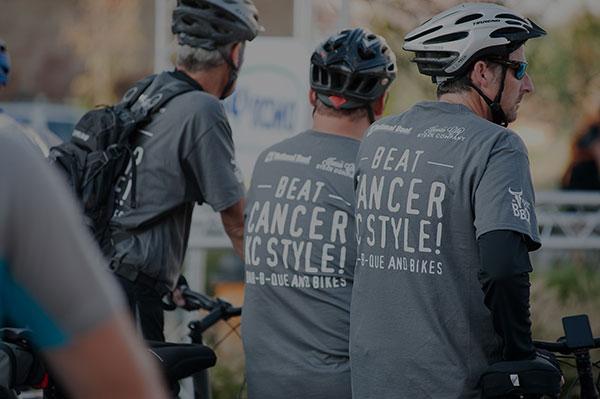 Bikers Wearing Beat Cancer Shirts