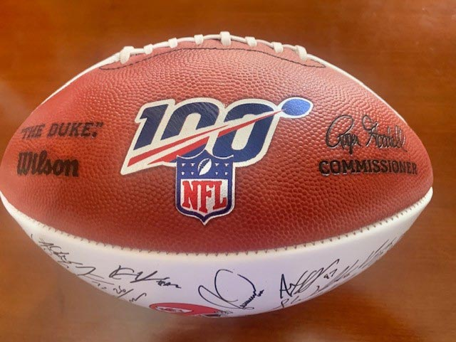 Chiefs Raffle Signed Football Front