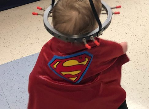 Photo of Hudson as a superhero