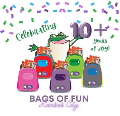 Bags of Fun Kansas City 10 Plus Years Anniversary Logo